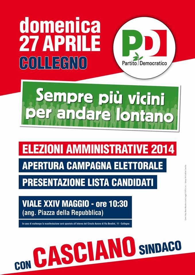 Elezioni a Collegno: approvata la lista dei candidati del PD