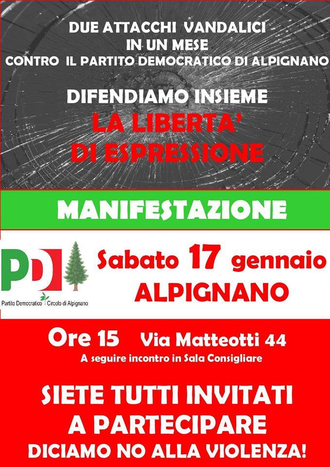 Manifestazione con il PD di Alpignano