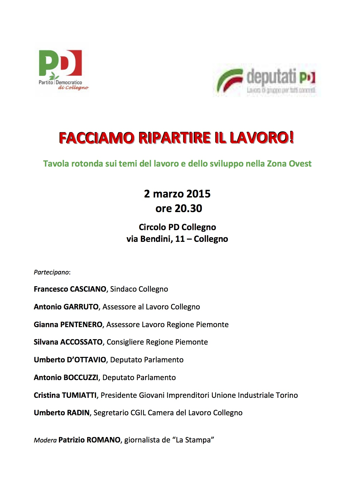 locandina 2 marzo 2015
