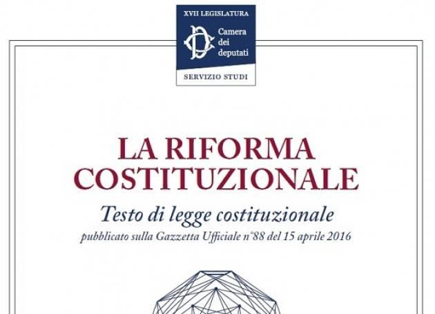 Sintesi sulla riforma costituzionale