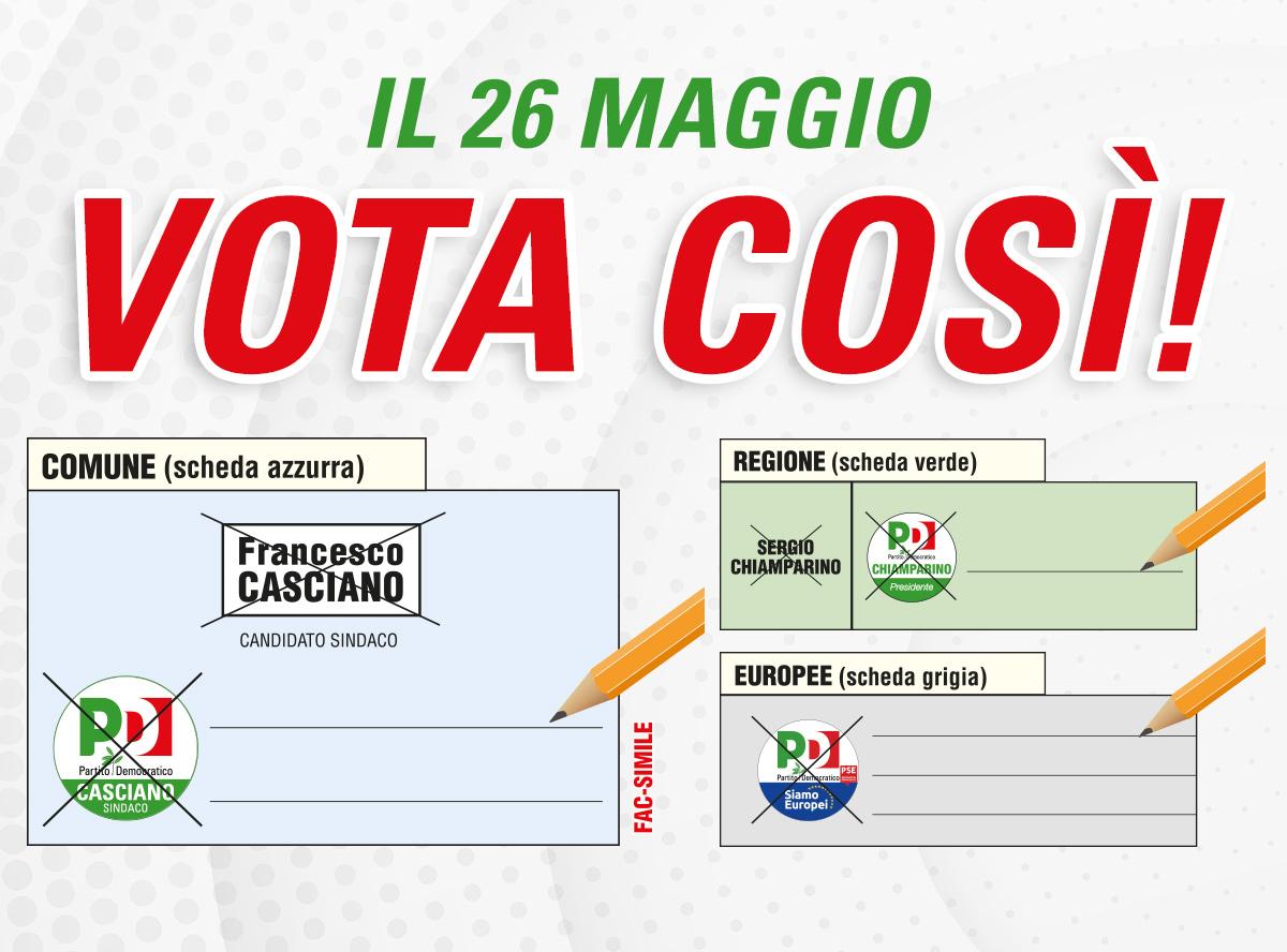 Il 26 Maggio vota PD Collegno!