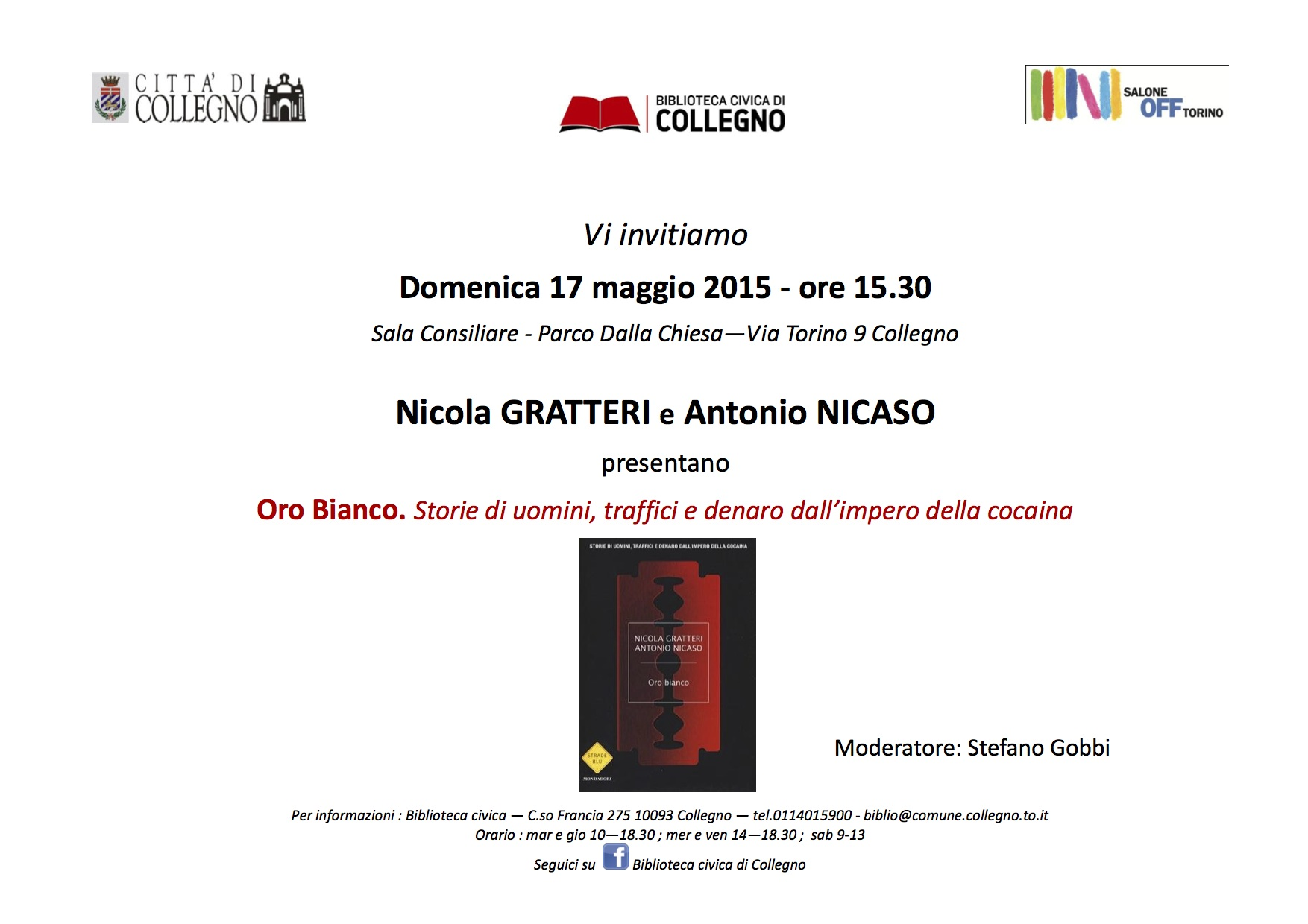 Salone Off Collegno_Nicaso invito fronte